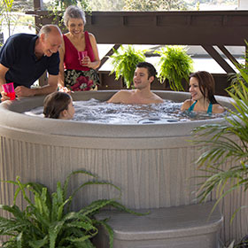 Free Flow Hot Tub Aptos
